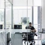 pareti di vetro ufficio