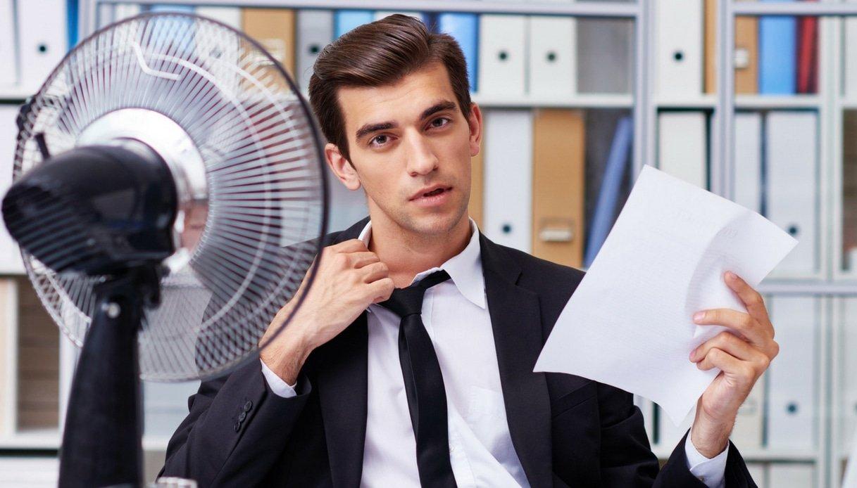 caldo in ufficio